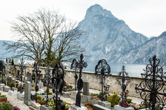 Mountain Traunstein with Graveyard Stock Images
