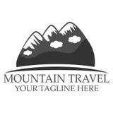 Mountain travel logo Royalty Free Stock Photo