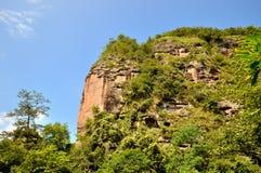 Mountain and tree, Taining, Fujian, China Stock Photo