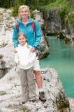 Mountain trek royalty free stock photos