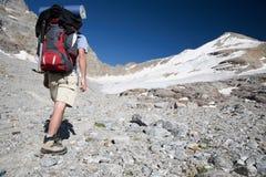 Mountain trekker royalty free stock images