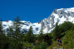 Mountain trekkers Royalty Free Stock Image