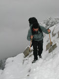 Mountain trekking Stock Photo