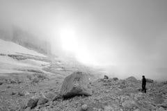 Mountain trekking Stock Photos