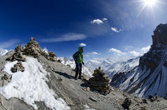 Mountain trekking Stock Image