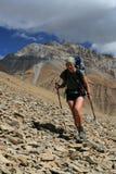 Mountain trekking Royalty Free Stock Images