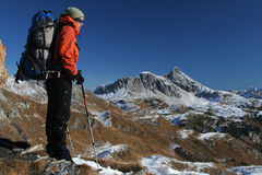 Mountain trekking Stock Photography