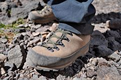 Mountain trekking boots Stock Photography