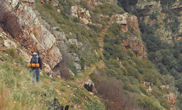 Mountain trekking man Royalty Free Stock Photo