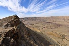 Mountain trekking in Negev Desert. Royalty Free Stock Image