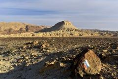 Mountain trekking in Negev Desert, Israel. Stock Image
