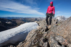 Mountain trekking Royalty Free Stock Photos