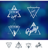 Mountain Triangle Logo Badge Stock Photo