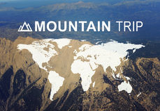 Mountain Trip header Royalty Free Stock Image