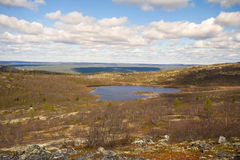 Mountain tundra in Lapland Stock Images