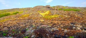 Mountain tundra in Lapland Royalty Free Stock Photo