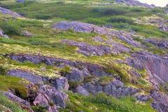 Mountain tundra in Lapland Stock Photo