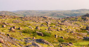 Mountain tundra in Lapland Royalty Free Stock Images