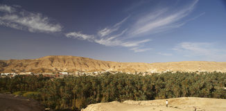 Mountain Tunisian oasis Stock Photo