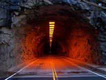 Mountain tunnel Stock Photos