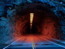 Mountain tunnel Stock Images