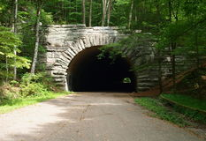 Mountain Tunnel Stock Photo