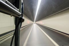18.01 014 Mountain Tunnel, shot from the bus window. stock photography