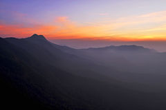 Mountain during twilight Stock Photography