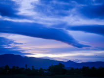 Mountain twilight stock image