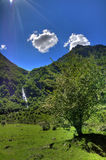 Mountain-two. Landscape in French Pyrenees (Oo Stock Photos