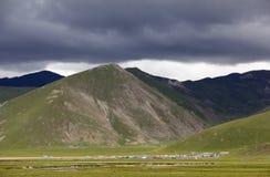 Mountain Under Black Clouds Stock Photos