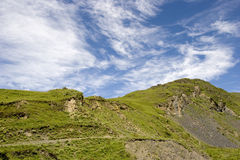 Mountain  under  blue sky. Mountain under  blue sky  , taken in early morning Royalty Free Stock Photo