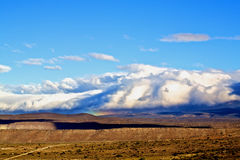 Mountain Under Clouds Stock Photos