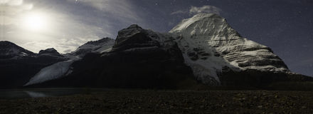 Mountain under moonlight Stock Photography