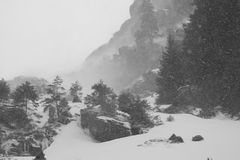 Mountain under snow Royalty Free Stock Image