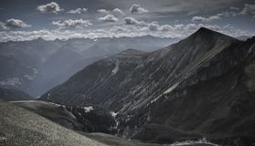 Mountain Under White Clouds at Daytime Royalty Free Stock Images