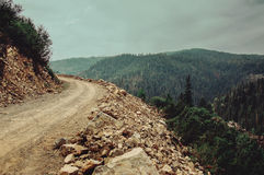 Mountain unpaved road Stock Photo