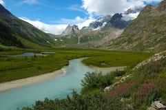 Mountain valley. Veny valley, Mont Blanc, Italy Royalty Free Stock Photos