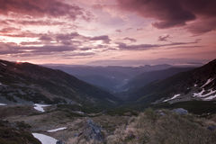 Mountain valley Royalty Free Stock Image