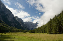 Mountain valley. Krma valley in Slovenian Julian Alps Stock Photography