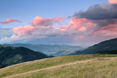 Mountain valley Stock Images