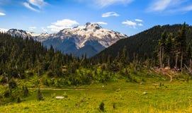 Mountain and valley Stock Photos