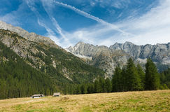 Mountain valley. Malga Bedole, Italy Stock Images