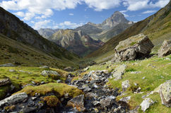 Mountain valley in the Atlantic Pyrenees Royalty Free Stock Photo