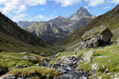 Mountain valley in the Atlantic Pyrenees Stock Photo