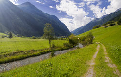 Mountain valley in Austria Stock Photos
