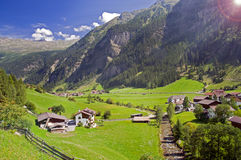 Mountain valley in Austria Royalty Free Stock Images