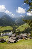 Mountain valley in austrian alps in summer Royalty Free Stock Photo