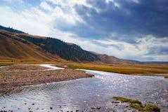 Mountain Valley in autumn Royalty Free Stock Photo