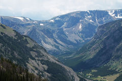 Mountain Valley. Beautiful scenic Mountain Valley trees Royalty Free Stock Photo